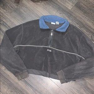 Vintage fila cropped hoodie
